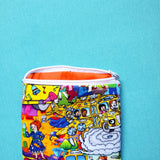 School bus Notion Pouch, zipper pouch, school coin purse