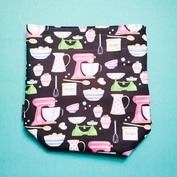 Baking bag, Knitting Project Bag, Drawstring Bag