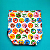 Candy project bag, knitting project bag, project