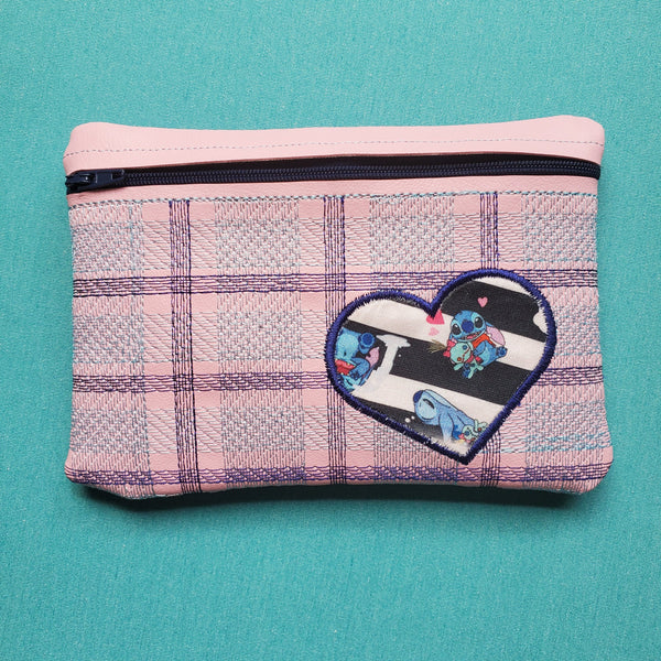 Cartoon doll Notion Pouch, crochet hook case, zipper pouch