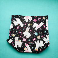 Project bag, Llama Bag, Knitting Project Bag