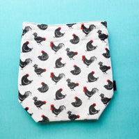 Rooster bag, Chicken bag, Knitting Project Bag