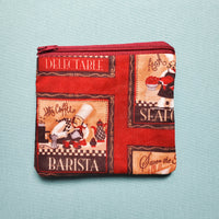 Barista Knitting Notion Pouch, zipper pouch, coin purse