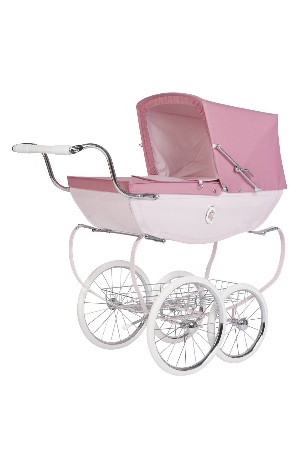 Chatsworth Doll's Pram Pink Rose