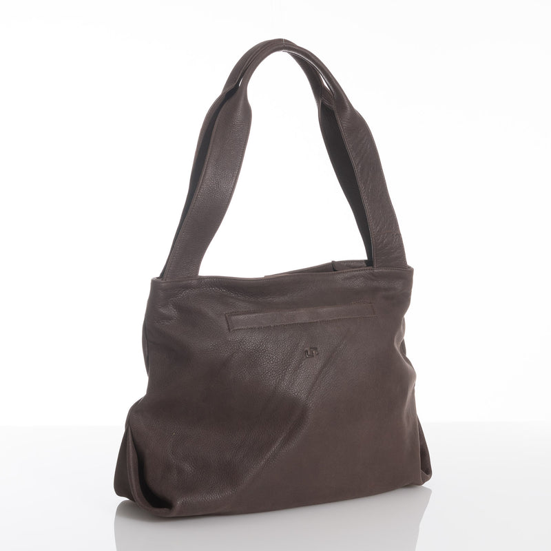 Chesnut Victory Leather Tote Dark Brown