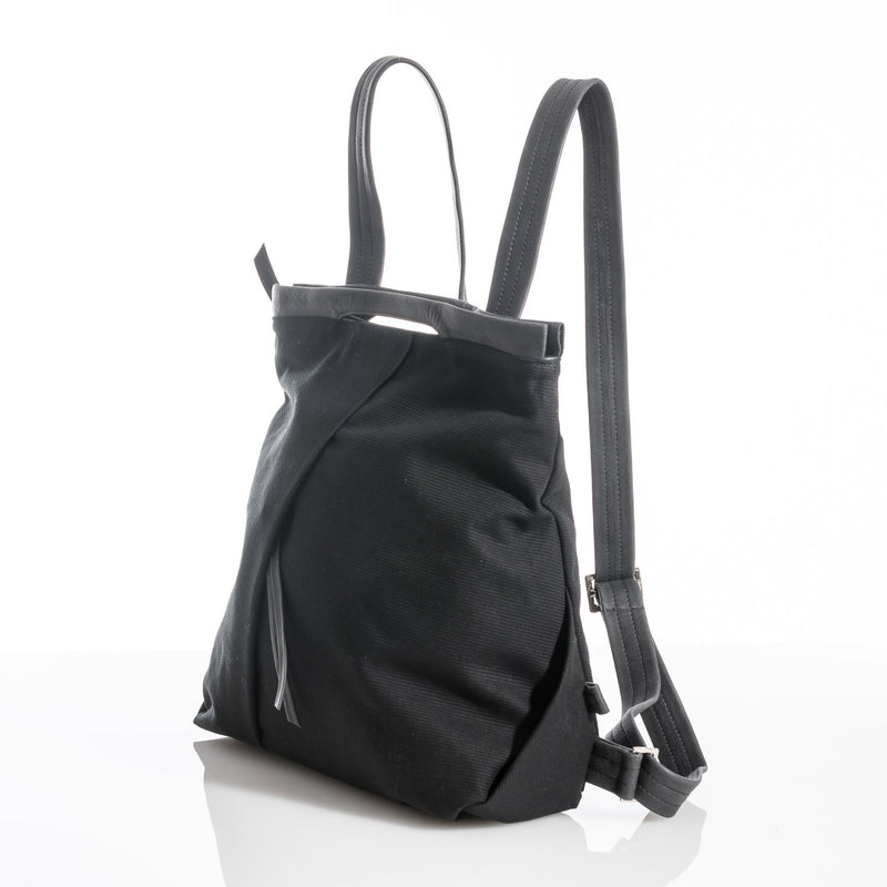 Black Ani Fold Backpack
