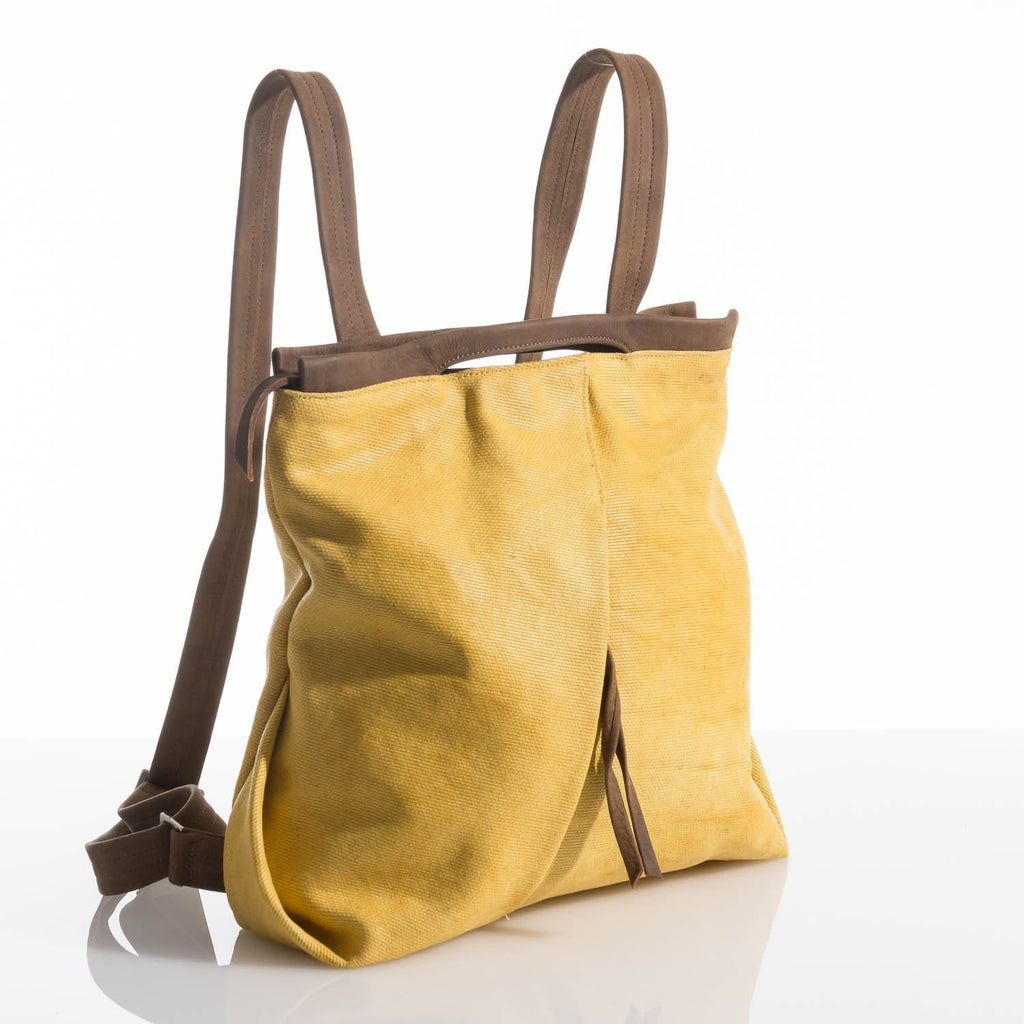Yellow Ani Fold Backpack