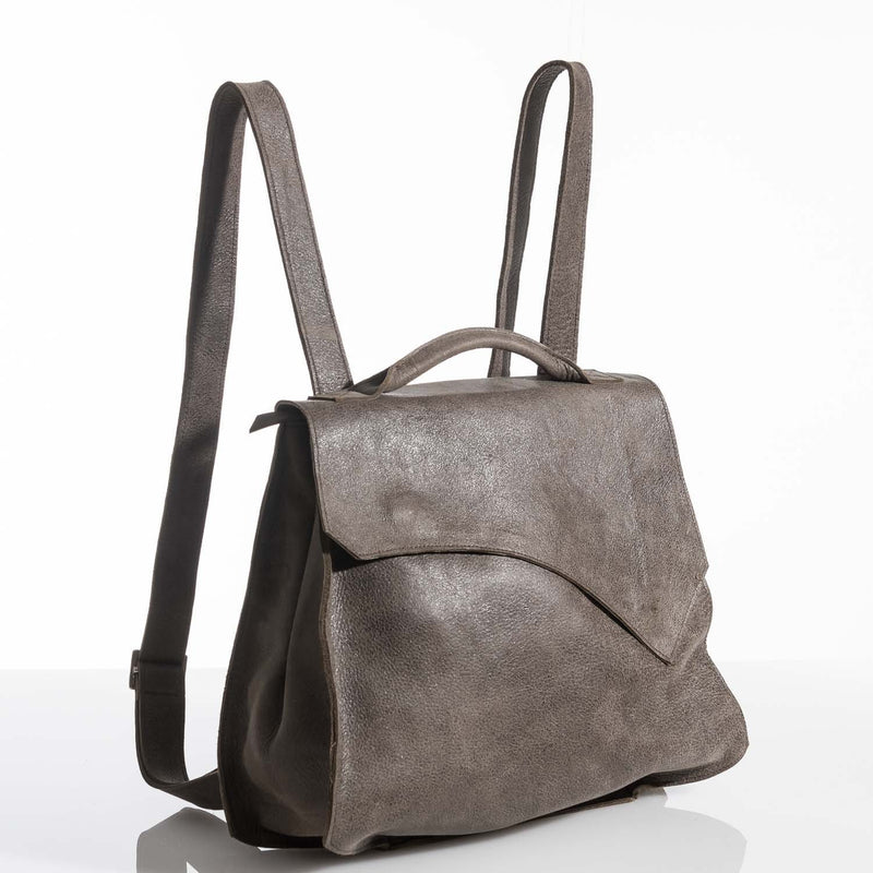 Camel Brown Rustic Leather Rucksack