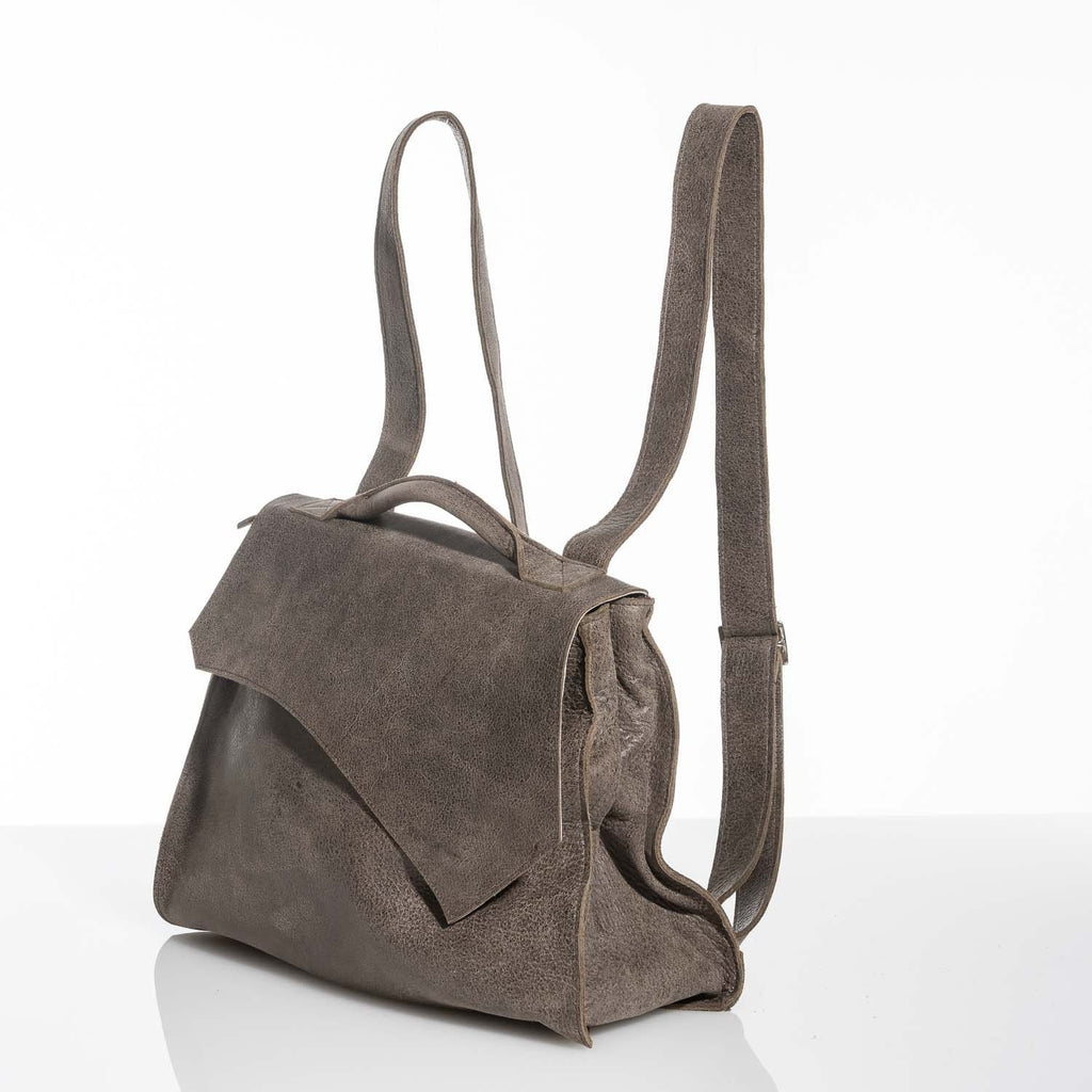 Rustic Walnut Leather Rucksack