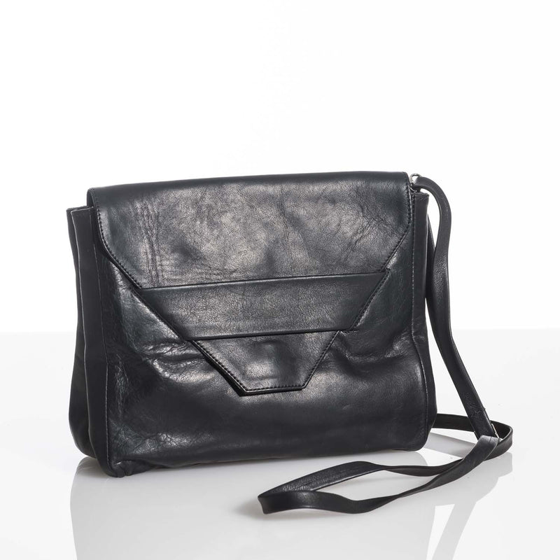 Lolita Black Leather Clutch