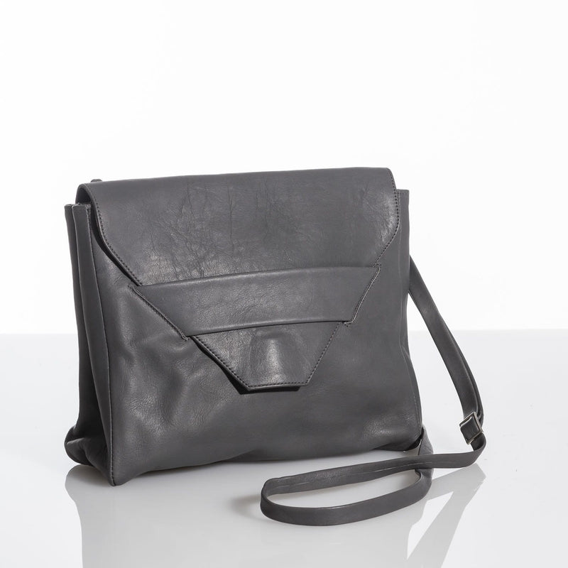 Lolita Charcoal Grey Leather Clutch Purse