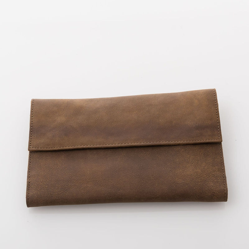 Walnut Trifold Leather Wallet