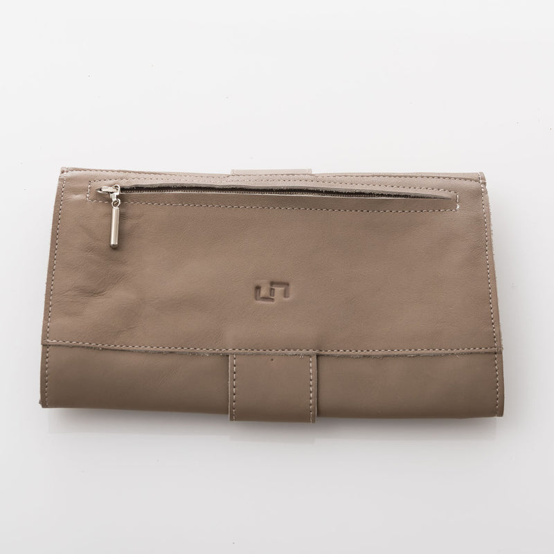 Light Brown Malta Envelope Leather Wallet