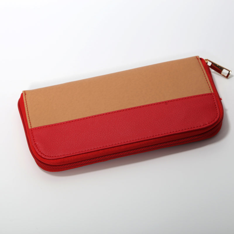 Red-Oak Two-Tone Vegan Wallet