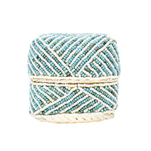 Load image into Gallery viewer, Turquoise Beaded Trinket Box