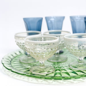 Opalescent Hobnail Glasses - Set of 2