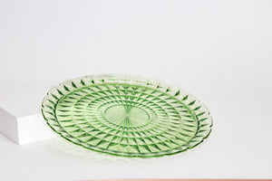 Green Glass Serving Tray