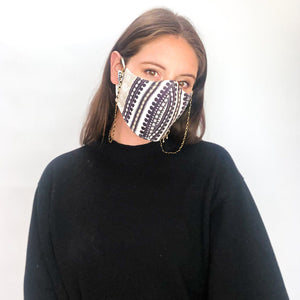 Boho Stripe Mask