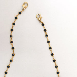 Black Stone Mask Chain