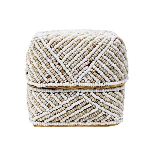 Natural Beaded Trinket Box