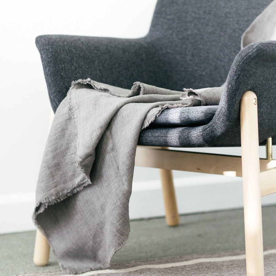 Stonewashed Linen Throw