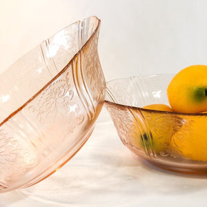 Pink Glass Serving Bowl