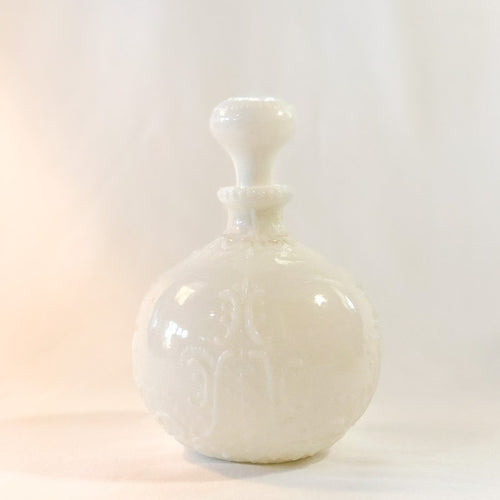 Vintage White Glass Decanter
