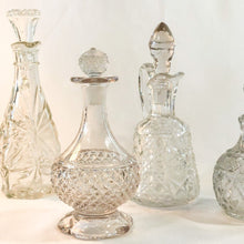 Load image into Gallery viewer, Vintage Tall Glass Cruet Bottle