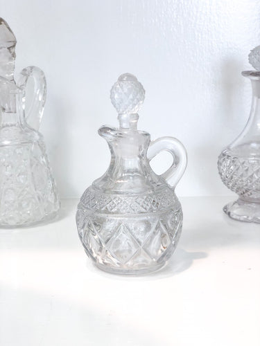 Vintage Small Glass Cruet Bottle