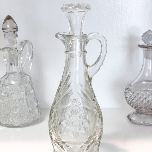 Vintage Tall Glass Cruet Bottle