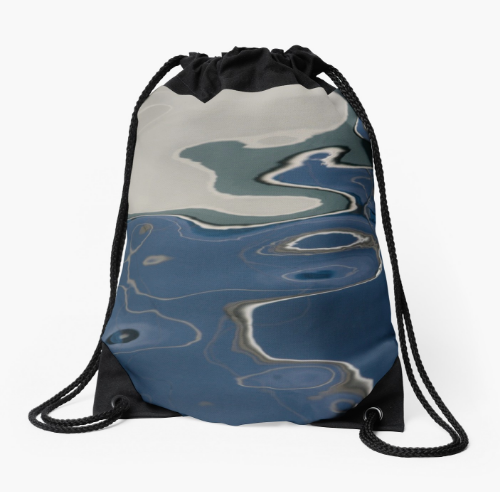 Deep Blue Drawstring Bag