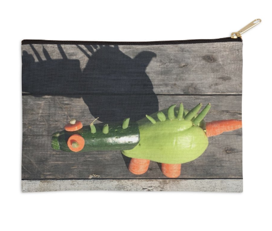 Food Play Dino Zip Pouch