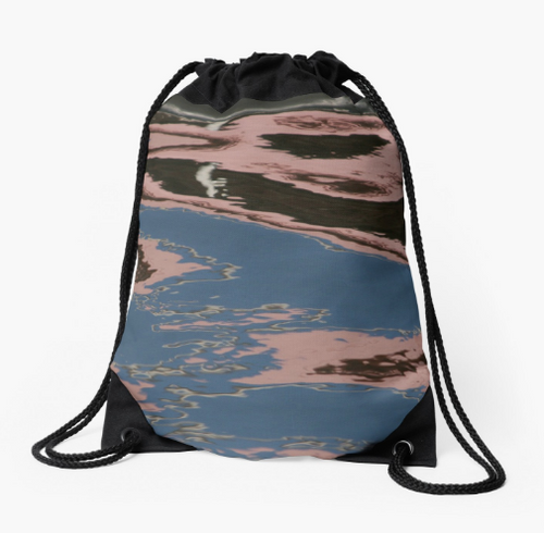 Rosy Reflection Drawstring Bag