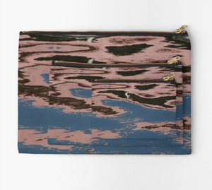 Rosy Reflection Zipper Pouch