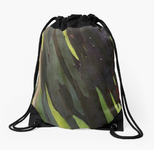 Forest Green Drawstring Bag
