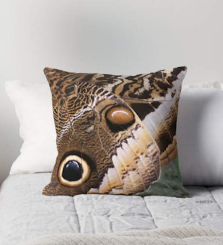 One Eye Butterfly Pillow