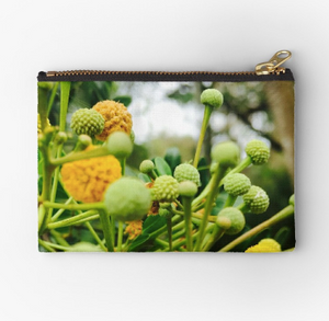 Yellow Spice Zipper Pouch