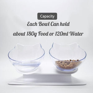 Raised & Tilted Cat Bowls - petilly.com