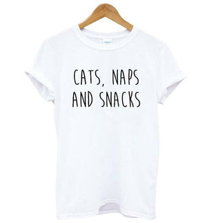 Cats, Naps And Snacks T-Shirt for Women - petilly.com