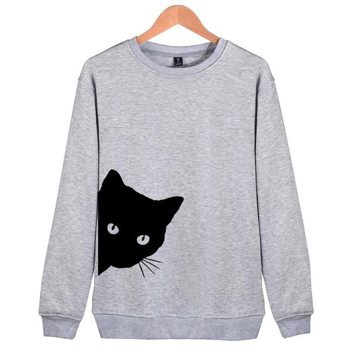 Cat Peeking Out Sweatshirt - petilly.com