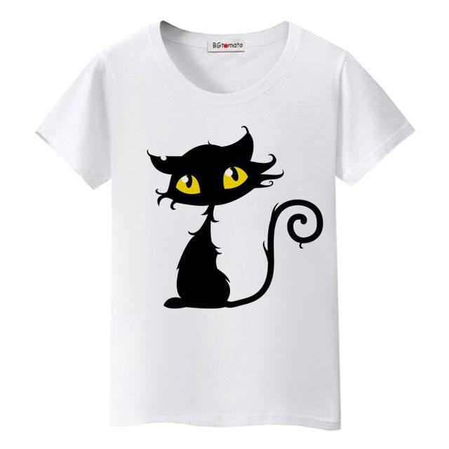 Black Cat 3D T-Shirt for Women - petilly.com