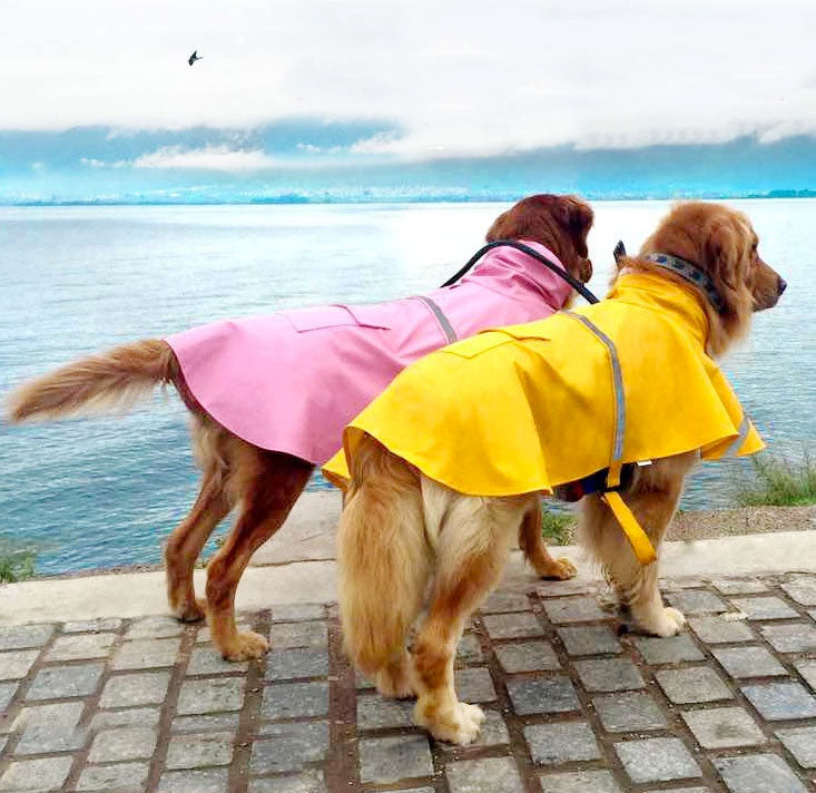 Reflective Dog Raincoat - 30% off. Add coupon code: RAIN30 at checkout. - petilly.com
