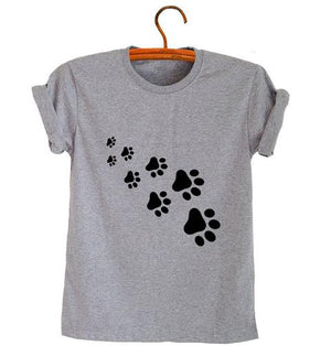 Paws Print Womens T-Shirt - petilly.com