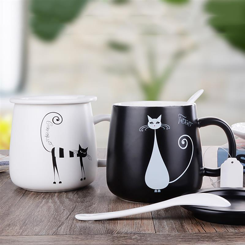 Sophisticated Feline Mugs with Spoon - petilly.com