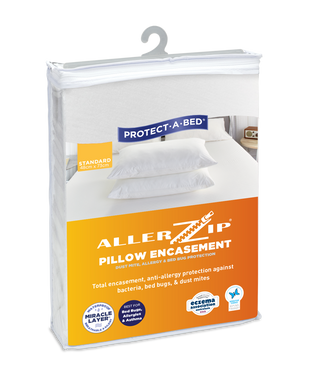 Allerzip® Fully Encased Pillow Protectors - Twin Pack