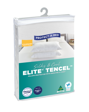 Elite Silky & Cool Tencel Pillow Protectors - Twin Pack