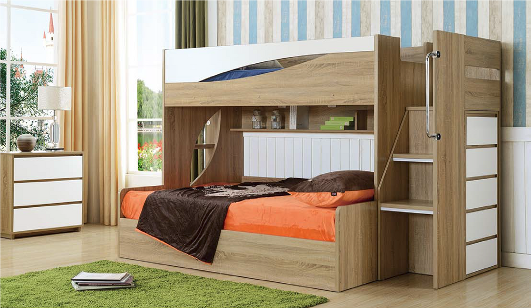 Acacia Storage Bunk Single over Double