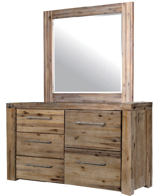 Augusta timber dresser and mirror
