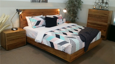 Marri Timber floating bedframe