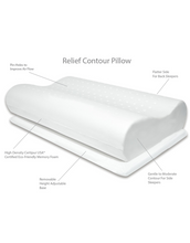 Load image into Gallery viewer, Contour Relief Memory Foam Pillow